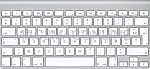 MC184LL/A-FR-A French A1314 Ultra Slim Bluetooth AZERTY Keyboard (Compact) No Numeric Pad Grade A