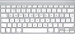 MC184LL/A-UK-A UK English A1314 Ultra Slim Bluetooth Keyboard (Compact) No Numeric Pad Grade A